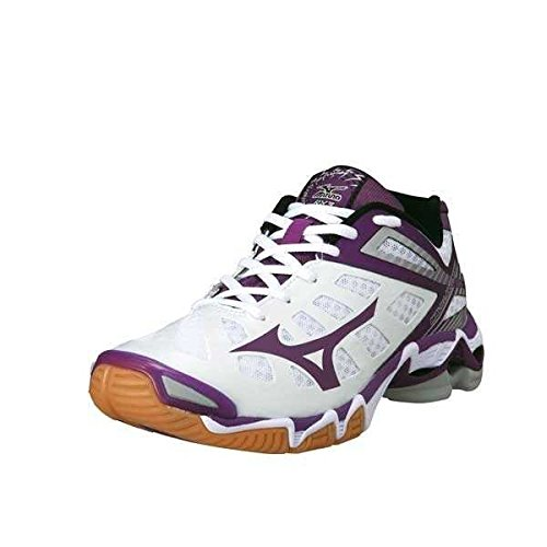 Mizuno Wave Lightning W Volley-Ball Chaussures Femme - - whtpurplepassionsilver,