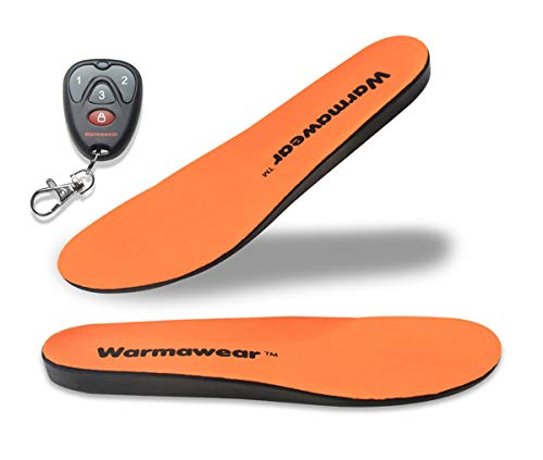 Warmawear Semelles Chauffantes Deluxe Imperméables, sans Fil Télécommande (L)