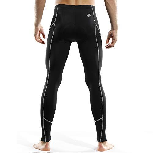 INBIKE Pantalon VTT Velo Homme Cyclisme Pantalons Rembourre 3D Coussin Legging Pantalon de Compression Cycliste Séchage Rapide Respirant(Noir,2XL)