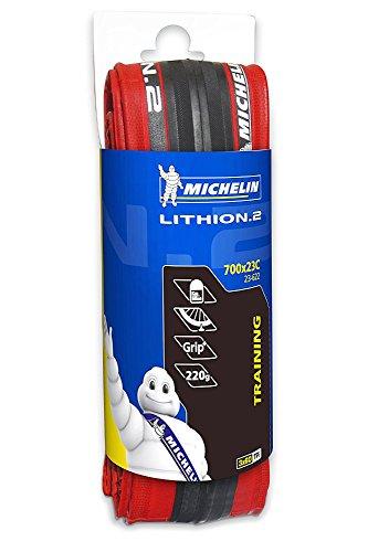 Michelin LITHION.2 Couverture pour vélo 700 x 23, Rouge