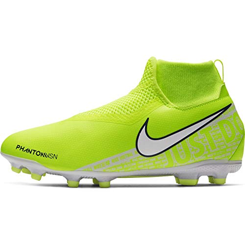 Nike Jr. Phantom Vision Academy Dynamic Fit MG, Chaussures de Football Mixte Enfant, Vert (Volt/White/Volt 717), 38 EU