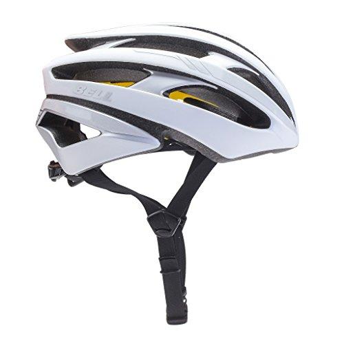 Bell Unisexe - Adulte Stratus MIPS Reflective Casque de vélo Mat Blanc/argenté L