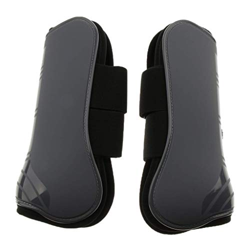 Backbayia Bottes d'Équitation Jambières de Protection de Cheval Tendon Chaussures Protectrice Vêtement (Gris)