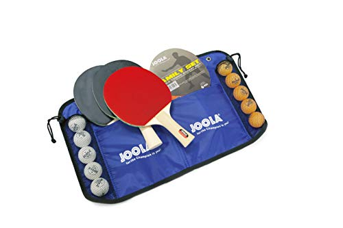 JOOLA FAMILY Set de tennis de table - 4 raquettes / 10 balles