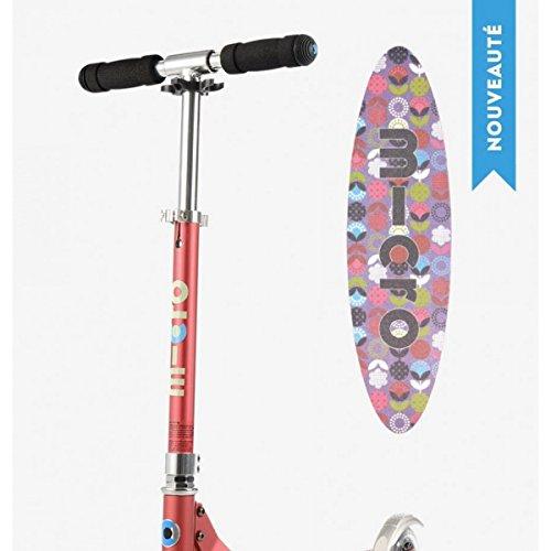 Micro Mobility - Trottinette Micro Sprite Framboise - Trottinette Enfant compacte et pliable - Apprentissage de l'équilibre - À partir de 6 ans