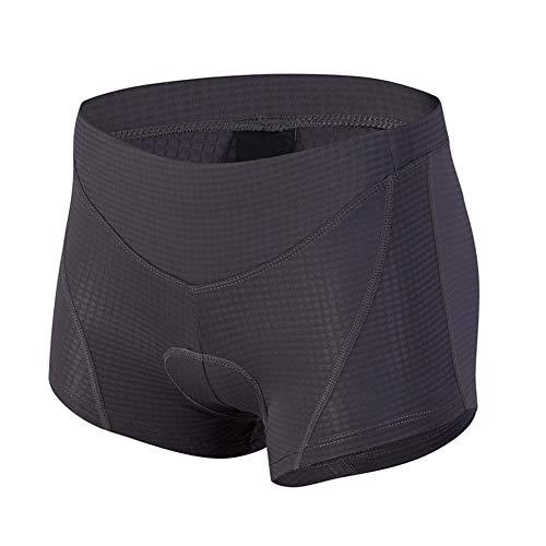 d. Stil Femme sous-Vêtement de Cyclisme Gel 4D Rembourré Séchage Rapide Respirant Caleçon Shorts de Sport Vélo VTT (Gris, S)