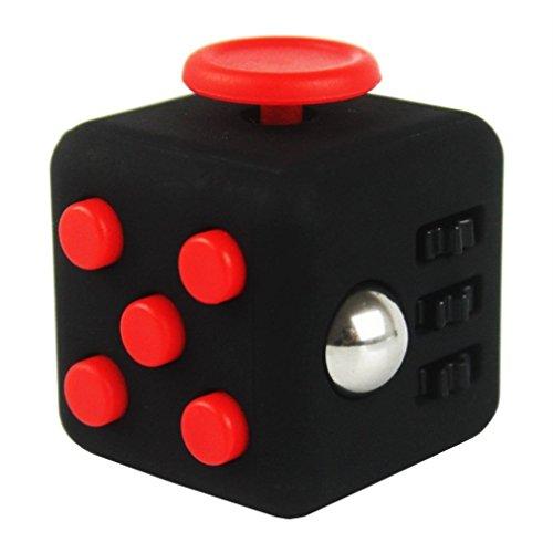 SamGreatWorld Noir/Rouge Mini Fidget Cube Soulage Le Stress et l'AnxišŠtšŠ Toy 6-Side Focus Attention ThšŠrapie Outil Hand Dice Jouet pour Enfants et Adultes par