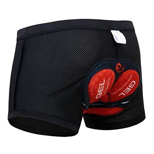 X-TIGER Montagne Cyclisme Shorts Velo avec Sweat Absorbent Volatility Fast Drying Padded 3D Gel pour Homme Femme (Size 3XL=Size 2XL(EU), Noir-A)