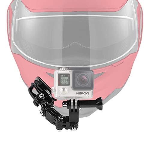 Kits de fixation de menton pour casque de moto pour GoPro Hero 4 5 6 7 Noir / Session, caméra Action AKASO / Campark / YI, avec tampons adhésifs et fixation en crochet en J