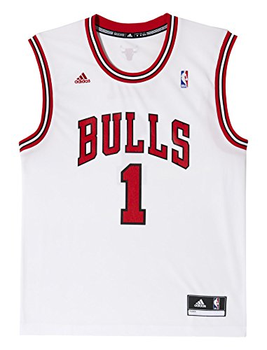adidas L71371 Maillot de basket pour homme NBA Chicago Bulls Blanc Taille Small