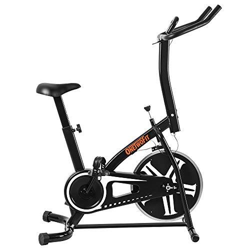 OneTwoFit Spinning Bike Studio d'intérieur Cycles Entraînement Vélo Fitness avec Siège à Hauteur Réglable et Écran LED, Poids Maximum de l'Utilisateur : 265lbs OT077