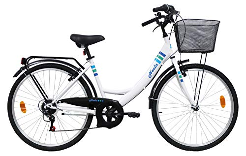 VTC 26' Femme Neela - 6 Vitesses - Freins V-Brake + Equipement City