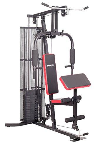 SportPlus - Appareil de Musculation/Home Gym - Presse pour Pectoraux, Butterfly, Poulie haute et Leg curl - Home Gym complet - Plusieurs Modèles disponibles ! Sécurité testée