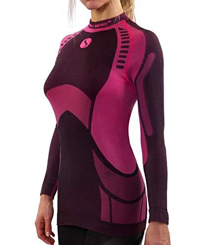 4a84640a9c8a7 Sesto Senso Femme sous-Vêtement Thermique Maillot de Corps Fonctionnel à  Manches Longues Haut Base