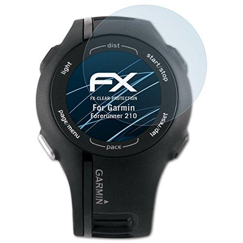 atFoliX Film Protection d'écran Compatible avec Garmin Forerunner 210 Protecteur d'écran, Ultra-Clair FX Écran Protecteur (3X)