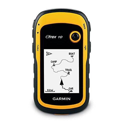 Garmin - 010-00970-00 - eTrex 10 GPS portable de randonnée - Fond cartographique mondial - Jaune/Noir