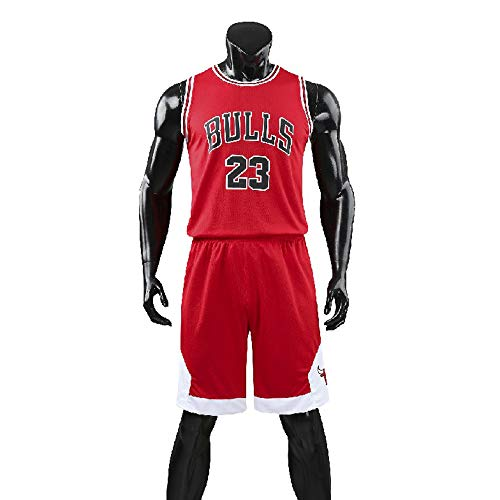 Hommes NBA Michael Jordan # 23 Chicago Bulls Short de Basket-Ball Retro Maillots d'été Uniforme de Basket-Ball Top & Shorts