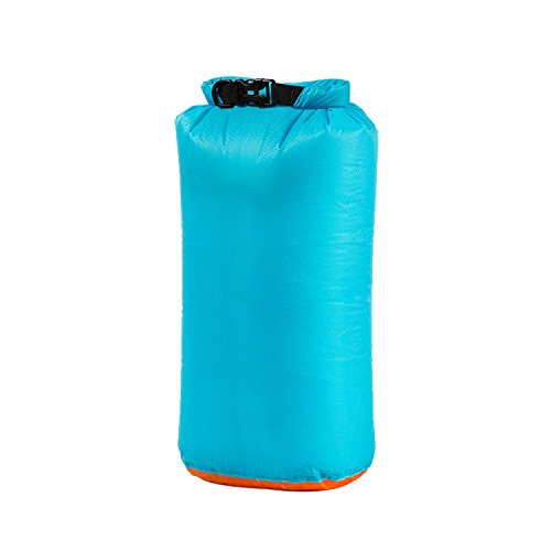 1T étanche Dry Bag, ultraléger Dry Sack, Roll Top de Compression Sack, Bleu Ciel, S - 6L