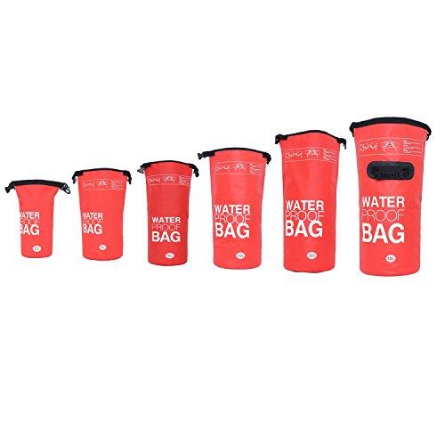 DonDon Outdoor Dry Bag Sac imperméable de Haute qualité, étanche, pour Ranger Vos Objets de Valeur pour Le Kayak canotage Rafting pêche la Natation Le Camping et la randonnée Rouge 10 Liter