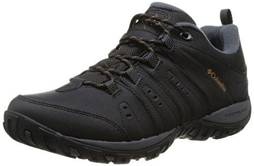 Columbia Waterproof Woodburn Ii, Chaussures de Randonnée homme,Noir(Noir (Black, Caramel) 43 EU