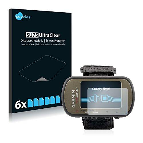 Savvies Film Protection d'écran pour Garmin Foretrex 401 [6 Pièces] - Transparent
