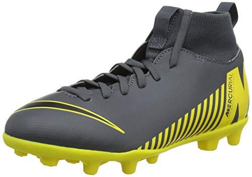 Nike Superfly 6 Club MG, Chaussures de Football Mixte Enfant, Gris (Dark Grey/Black/Opti Yellow 070), 36.5 EU