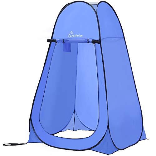 WolfWise Tente de Douche Pop Up Toilette Cabinet de Changement Camping Abri de Plein Air Vestiaire Extérieure Intérieure Portable