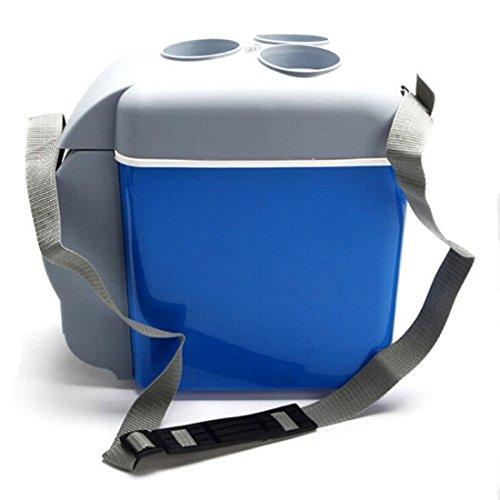 Voiture de réfrigérateur, Autoinbox 12V Camping Portable Voyage réfrigérateur extérieur 7.5l Cooler Warmer Chauffage électrique multifonction réfrigérateur Mini réfrigérateur glacière Bleu