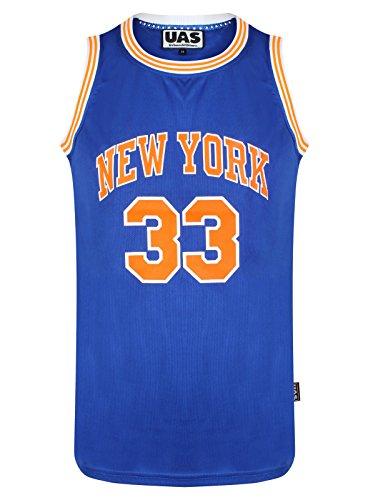 Débardeur UrbanAllStars - Style américain - Pour homme - Maillot de basket de Miami, New York, Chicago, Los Angeles, Brooklyn -  - X-Large