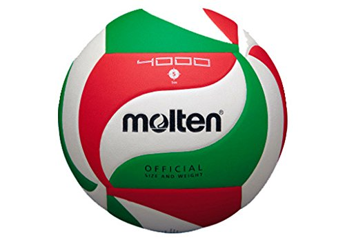 Molten V5M4000 Ballon de volley-ball Blanc/vert/rouge Taille 5