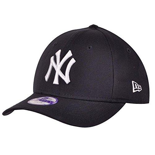 New York NY Yankees MLB League Basic 9Forty Casquette Ajustée Fit Noir / Blanc , Enfant