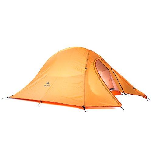 Naturehike Cloud-up Ultra-léger Tente 2 Personnes 210t Lattice Chiffon Double Couche imperméable à l'eau Tente de Camping (210T Orange)