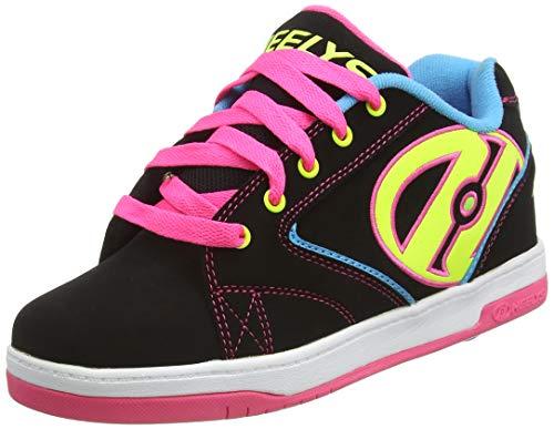 Heelys Propel 2.0, Sneaker Bas du Cou Enfant, Black/Neon Multi, 36.5 EU