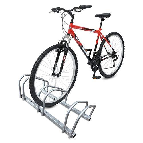 Râtelier vélo 3 vélos Range vélo Système Range vélo Rangement pour vélo Support pour Bicyclette Sol ou Mural en Acier revêtu Support de Rangement vélo Jardin ou Garage Râtelier Familial