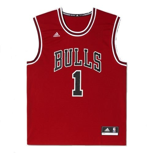 adidas Chicago Bulls Derrick Rose NBA Replica Home Maillot Homme Rouge/Noir  -  FR :  XS