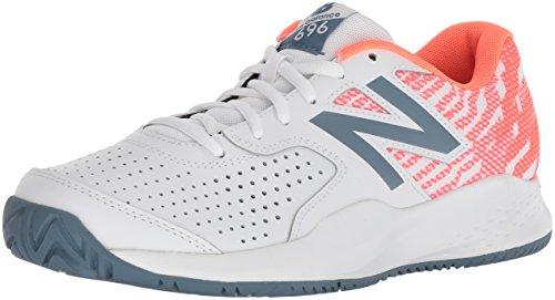 New Balance 696v3, Chaussures de Tennis Femme, Blanc (White/Dragonfly B3), 39 EU