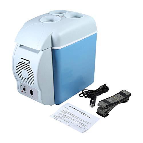 SOULONG 7.5L Glacière Électrique Mini Réfrigérateur pour Voiture et Camping Mini Réfrigérateur Frigo Portable Capacité léger à Double Isolation Isotherme avec une Sangle peut être porté à l'Épaule 12V