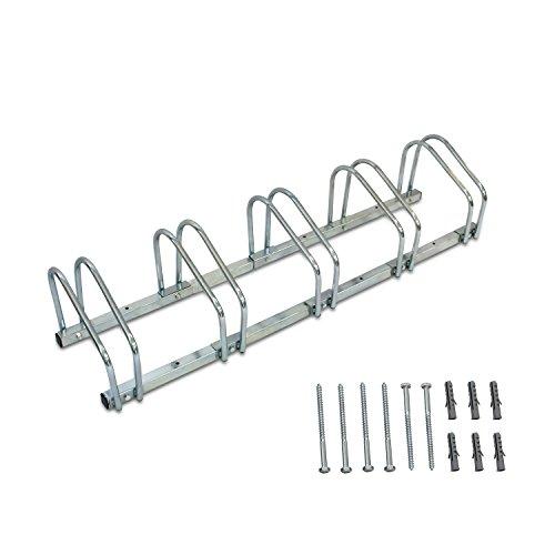 Sotech - Support de Rangement Vélo, Râtelier Familial pour Vélo,Support vélo,Range vélo,Peut contenir 5 vélos, Dimensions: 132 x 32 x 26 cm, Type d'installation: Montage au sol