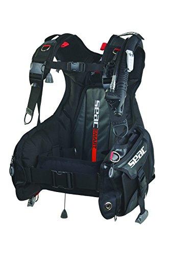 Seac Smart Gilet de plongée avec Poche intégrée Mixte Adulte, Noir Rouge, Taille M