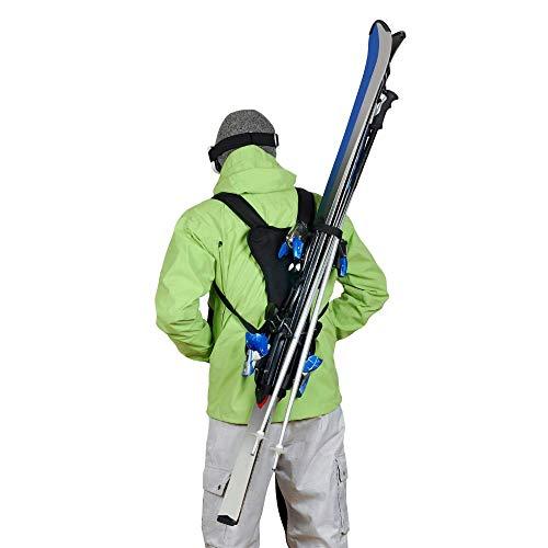 Wantalis - Skiback - Un produit révolutionnaire pour porter vos skis en libérant vos mains - Bretelles adaptables et réglables
