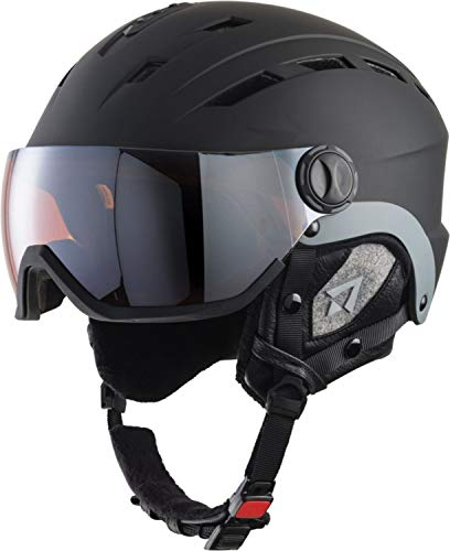 TECNOPRO Titan Photochromic Casque de Ski Homme, Black/Chrome, S/M