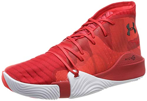 Under Armour Anatomix Spawn Mid, Chaussures de Basketball Homme, Rouge (Red 604), 47.5 EU