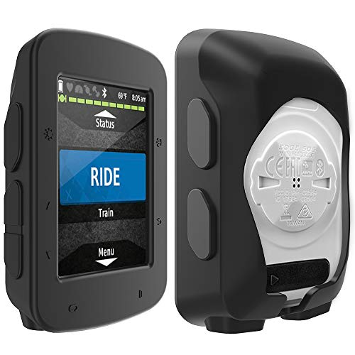 TUSITA cas pour Garmin Edge 520 Plus - Housse de protection en silicone - Ordinateur de vélo Accessoires GPS (Noir)