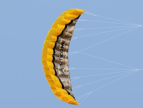 Huya Force 2.5m deux ligne parapente Cerf-volant avec manette 30m ,Cerf-volant pour le sport en plage,jeux de plein air dans le jardin