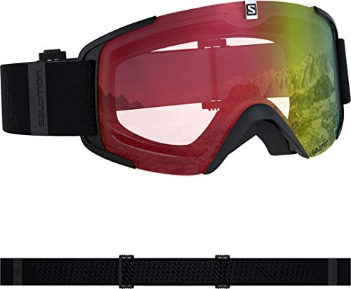 Salomon, Xview Photo, Masque de ski unisexe, Noir/AW Red, L4084444100