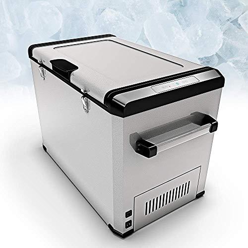 Bluefin Réfrigérateur Congélateur Portable à Compression (24/33/42/60/80L) Mini Refroidisseur avec Adaptateur AC/DC | Nourriture, Boissons, Vin | Camping, Voyage, Pique-Nique (60 litres d'argent)
