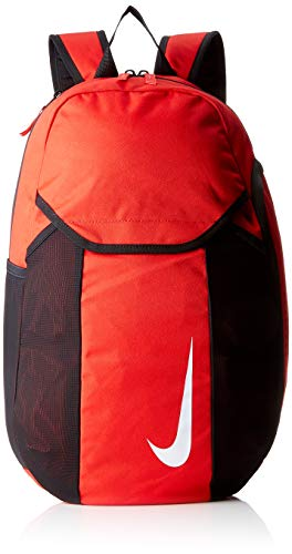 Nike NK Acdmy Team Bkpk Sac à Dos de Sport Mixte Adulte, Rouge (University Red/Black), 15x24x45 Centimeters (W x H x L)