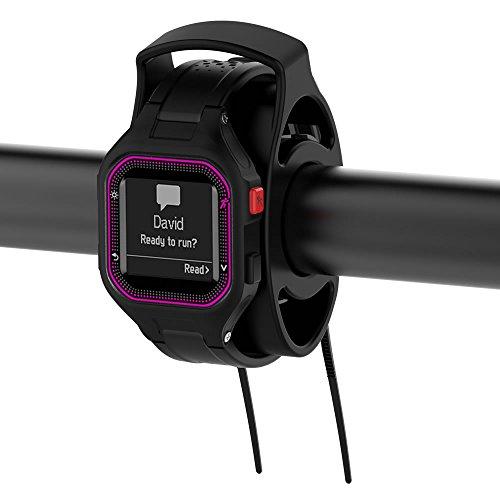 XIHAMA Bike Kit de Montage Support Noir, Garmin Montre de Sport de vélo kit de Montage pour Approach S1, S3, Forerunner 110210305610910X T 310x t 405CX, Foretrex 301et Universel Smart Watch