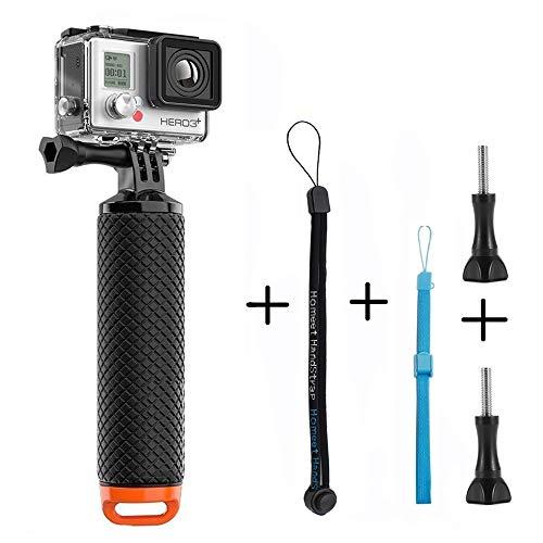 Homeet Poignée Flottant Etanche Action Caméra Grip Pôle Handle Anti-Glissant Selfie Stick à Plonger pour GoPro Session/SJCAM / Garmin Virb XE/Yi 4K / DBPOWER/QUMOX / Akaso, Orange