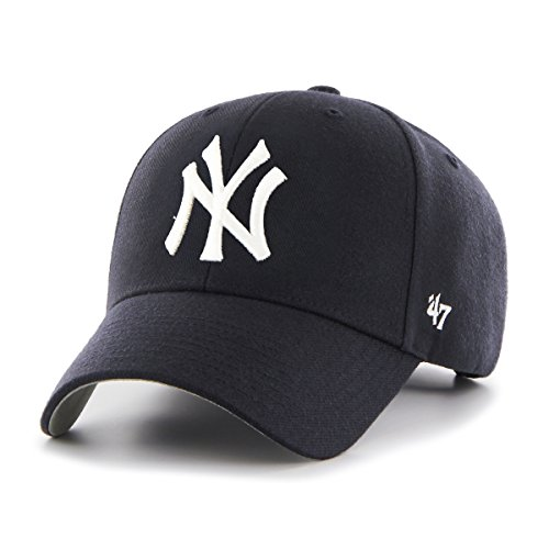 New York Yankees 47 Brand MLB MVP Structured Adjustable Hat Chapeau - Navy